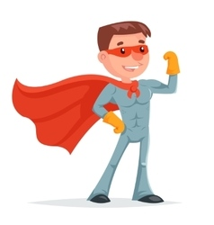 Super Hero Character Icon Retro Cartoon Design vector image
