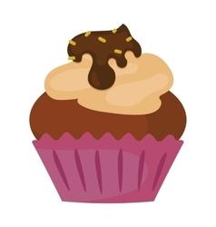 Sweet cake fresh dessert vector image