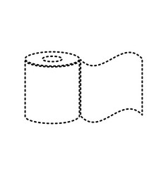 toilet paper sign black dashed icon on vector image