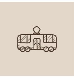 Tram sketch icon vector image vector image