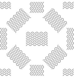 Waves icon seamless pattern on white background vector