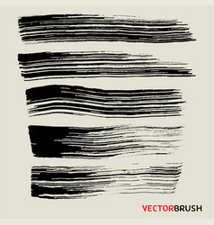 wide brush texture background collection vector image vector image