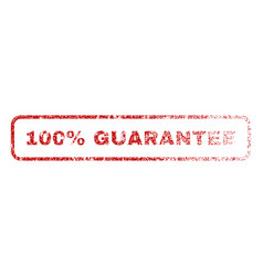 100 percent guarantee rubber stamp vector image vector image