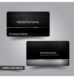 Business card template set 55 dark metal and steel vector