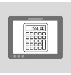 Hand touch calculator financial vector