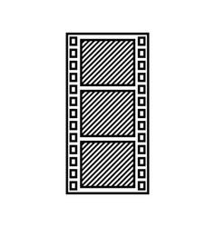 tape film record design vector image