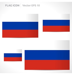 Russia flag template vector