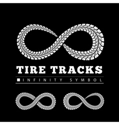 Tire Tracks in Infinity Form vector image