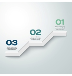 3D progress background product choice or versions vector image vector image