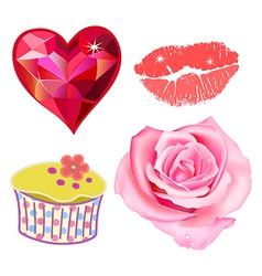 Romance lovely set vector
