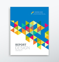 Cover annual report colorful triangles geometric vector