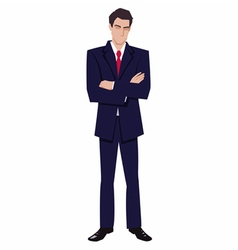 Man in a business suit vector