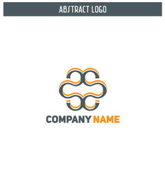 Abstract modern logo design vector