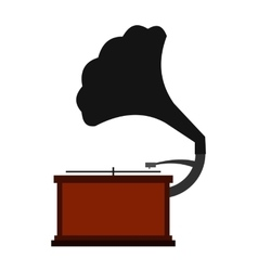 Gramophone flat icon vector