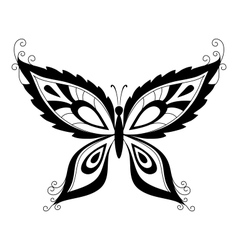 Butterfly black silhouettes vector