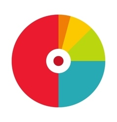 Pie chart with a hole in the center icon vector