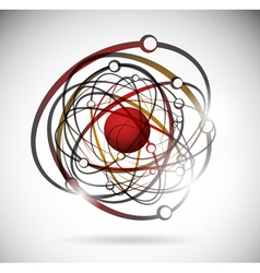 abstract atomic background vector image