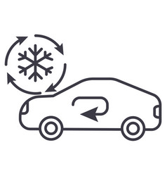 air conditioning car service line icon vector image