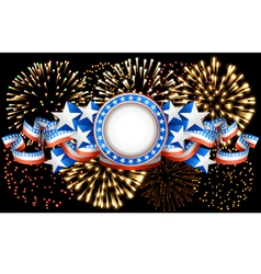 American background with fireworks vector image vector image