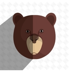 Bear head design vector
