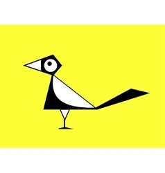 Cartoon magpie sign vector image