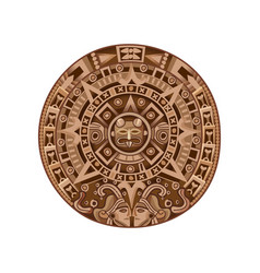 Cartoon mayan calendar vector