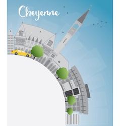 Cheyenne wyoming skyline vector