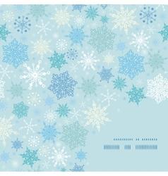 Falling snow frame corner pattern background vector