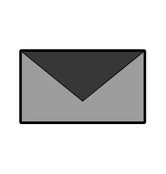 grey envelope cartoon vector image