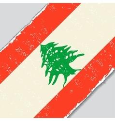 Lebanese grunge flag vector