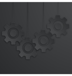 modern mechanism icons background vector image vector image