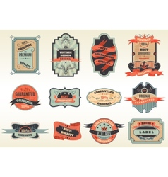 Original retro labels emblems collection vector image