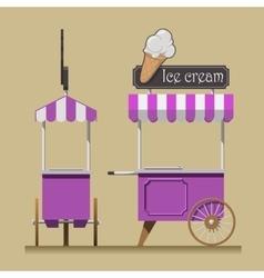 Retro ice cream cart vector image vector image