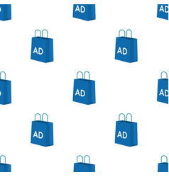 Shopping bag advertising icon in cartoon style vector