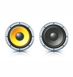 Sound loud speakers vector