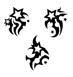Tattoo with stars vector image