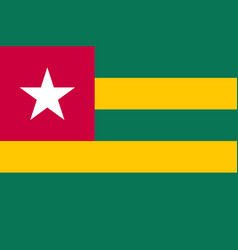 Togo national flag and ensign vector