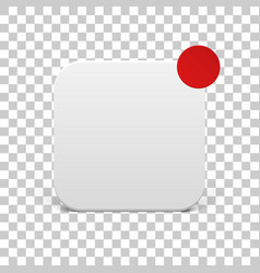 White icon template with red notification circle vector