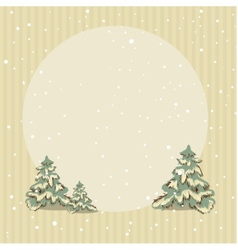 Winter retro striped background vector image vector image