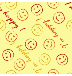 I am happy pattern vector