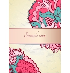 Flower ornamental frame in eastern style vector