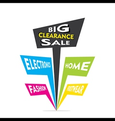 Big clearance sale in electronics home fashion vector
