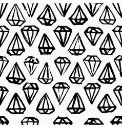 Diamond hand drawn seamless background vector image