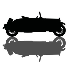 Vintage small cabriolet vector