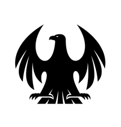 Proud eagle silhouette vector