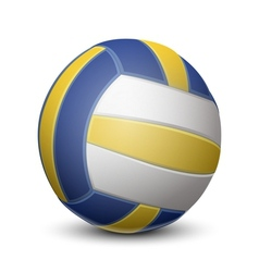 Blue and yellow volleyball ball vector