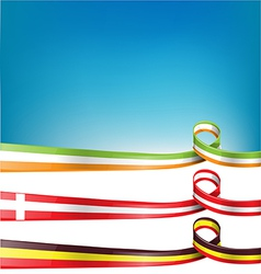 Belgium switzerland and ireland flag set vector
