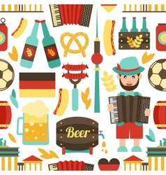 Germany travel seamless pattern vector