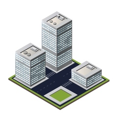 3D city block vector image vector image