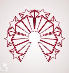 3d stars emblem vector
